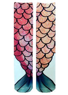 Mermaid Knee High Socks