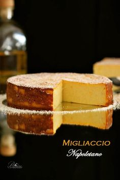 Receta Migliaccio napolitano con semolina y ricotta Delicious Deserts, Yummy Food, Delicious Recipes, Semolina Cake, Ricotta Cake, My Dessert, Recipe For 4, Cakes And More, No Bake Cake