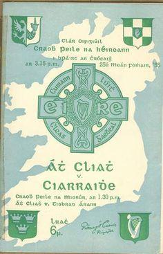 1955 All-Ireland Senior Football Final - Dublin v Kerry Football Final, Irish Celtic, Old And New, Dublin, Programming, Ireland, Posters, Bar, Sport