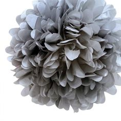 "30pcs - 4"" 8"" 12"" Mixed 3-sizes Gray Tissue Paper Pom-poms Pompom Flower Wedding Party Home Indoor Outdoor Hanging. 30pcs - 4"" 8"" 12"" Mixed 3-sizes Gray Tissue Paper Pom-poms Pompom Flower Wedding Party Home Indoor Outdoor Hanging on Tradesy Weddings (formerly Recycled Bride), the world's largest wedding marketplace. Price $46.98...Could You Get it For Less? Click Now to Find Out!"