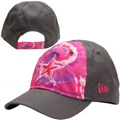 776e62586 Girls Toddler Dallas Cowboys New Era Pink Tye Dye Fan 9TWENTY Adjustable  Hat