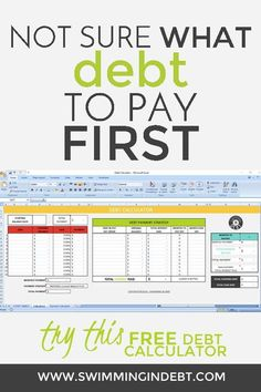 Off The Debt - PART 5 Not sure what debt to pay off first? Try this FREE debt calculator to help you decide how to pay off the debt.Not sure what debt to pay off first? Try this FREE debt calculator to help you decide how to pay off the debt. Debt Repayment, Debt Consolidation, Debt Payoff, Iowa, Paying Off Credit Cards, Thing 1, Get Out Of Debt, Budgeting Money, Money Management