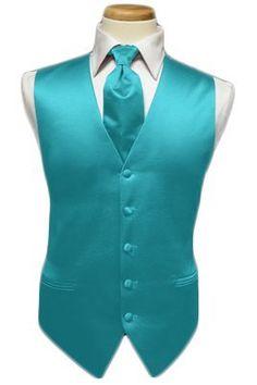 Aqua Tuxedo for an Aqua beach themed wedding. I HAVE AN OBSESSION WITH AQUA
