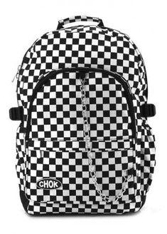 6a3427e42282 Checker Black   White Backpack White Backpack