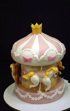 Carousel fondant cake