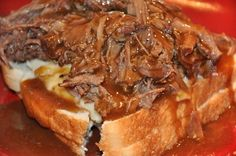 Beef Manhatten the best comfort ever. You can even do this w/ Turkey as well. Mmmmm Good!!!!