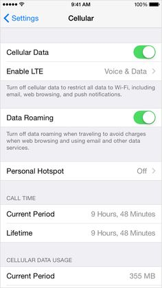 Learn about cellular data setting and usage...iPhone 5