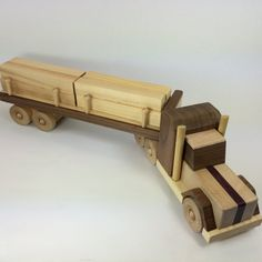 Wood Tractor Trailer Handmade TT011 by BluebirdWoodcrafts