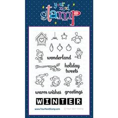 """Your Next Stamp Clear Stamps 4""""X6""""-Word Critters - Winter Birds"""