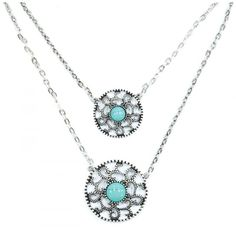 PURE WESTERN TALISSA NECKLACE  A gorgeous double drop necklace. $25.95