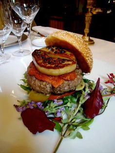 Comfort food for a discerning palette. Foie Gras Burger from @Four Seasons Hotel George V Paris