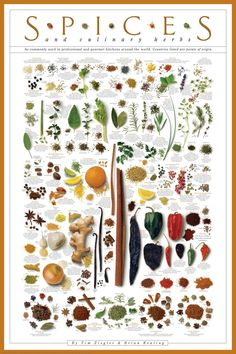 """It even tells you the country of origin and how best to use all the spices and herbs listed.Get it from Amazon for $11.79.Promising review: """"This poster is fantastic. It's crisp and clear and colorful. Also helpful and informative. It's really functional decor for a kitchen, which I think is great. I also bought another poster from the same seller so they shipped together (super heavy duty cardboard tube, poster rolled in side with tons of tissue paper to protect edges). For the price this…"""
