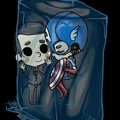 Agent Coulson and Captain America