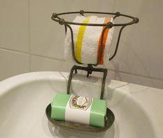 Antique French Bath Soap Holder Dish and Sponge Bowl