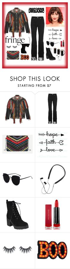 """""""#fringe"""" by explorer-14673103603 on Polyvore featuring Gucci, McQ by Alexander McQueen, Polaroid, Max Factor and fringe"""