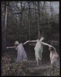 "rivesveronique: "" Dancers, Queens, Long Island, New York By Karl Struss 1915 .Autochrome """