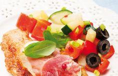 Putenschnitzel mit Paprika und Schinken... Escalopes de dinde à la sauge et au poivron Rouge... #AMCRezept #AMCrecettes
