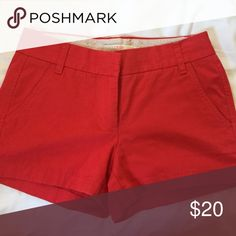 Chino shorts Classic red J Crew chino shorts, broken in J. Crew Shorts