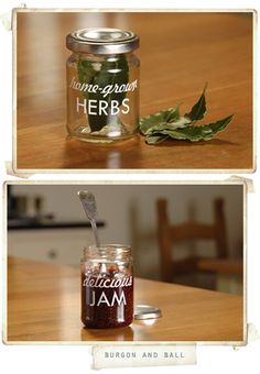 I would love to make these jars with vinyl and give as xmas gifts. So cute from Burgon and Ball