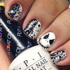 Top 16 Beauty Jack Skellington Nail Designs – Easy Halloween Manicure New Trend - Easy Idea (4)