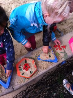 Voeg bessen bladeren takjes roeien de zandbak voor het versieren van taartjes @obs_koppel