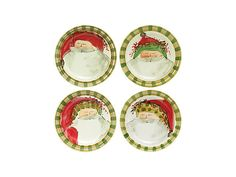 Vietri Old St. Nick Assorted Dinner Plate - Set of 4