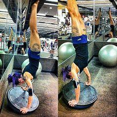 Got Balance! @infamousjoannah doing an awesome handstand on the BOSU. Web Instagram User » Followgram