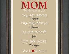 MOM Gift Print Personalized Mother Gift by KreationsbyMarilyn