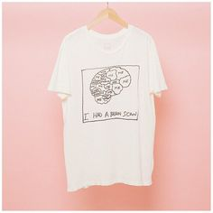 Brain Scan T-Shirt ($35) ❤ liked on Polyvore featuring tops and t-shirts