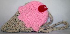 Ice Cream Cone Crochet Bag Purse
