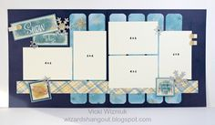 Wizard's Hangout: Snow Days layout.... Aspen paper, layout design from Scrapbook Generation