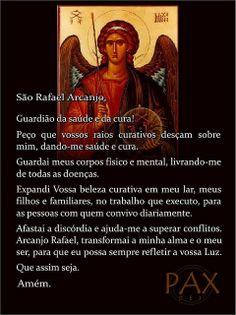 Oração a São Rafael Arcanjo (por saúde e outras graças)