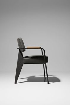 Jean Prouvé's famous executive chair 'Fauteuil Direction' from the Prouvé RAW Special Edition by Vitra.