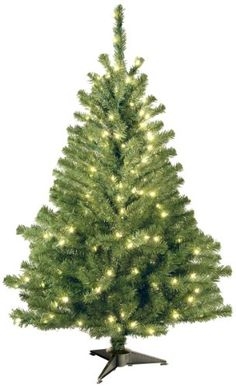 4 Ft PreLit Multi Color White Artificial Christmas Tree http