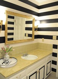 danielle oakey interiors: The Power of Paint: A Bathroom Makeover