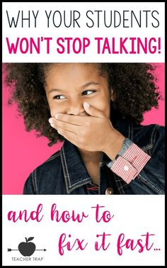 Students talking too much? Change that chatty class into a focused group of learners with six easy strategies! And if you've got blurters, find a fix for that, too! This is great for large group and individuals. Classroom Discipline, Classroom Management Strategies, Class Management, Preschool Classroom Management, Classroom Behaviour, School Discipline, Teaching Strategies, Anger Management, Geek Culture