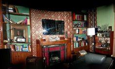 Sherlock series 3: Panoramic of Baker street set