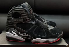 d00b399444f Cool Authentic Cheap Air Jordan 8 Alternate Bred Black Gym Red Wolf Grey  Basketball Shoe For Sale