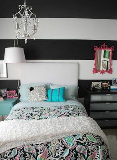 wohnideen wanddeko wall colors, stripes great shape