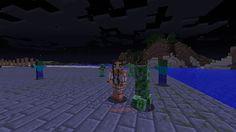 Orphea2012 Youtube et Minecraft: Minecraft   Réunion de monstres la nuit sur ma pla...