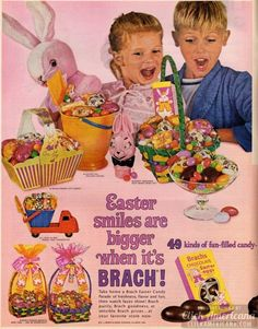 Easter candy lineup for 1964 - Click Americana