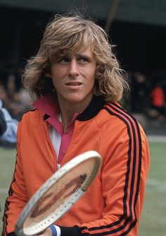 Bjorn Borg at Wimbledon in 1974 - And this why he was one of my favorite tennis players. Not only, literally, one of the best players ever, but oh so damn cute!