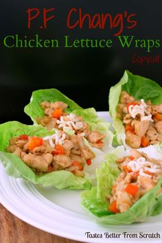 P.F. Chang's Chicken Lettuce Wraps copycat on MyRecipeMagic.com #copycat #pfchang #wrap #chicken #lettuce