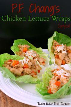 P.F. Chang's Chicken Lettuce Wraps copycat on MyRecipeMagic.com
