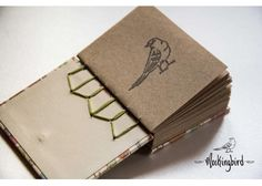 Mockingbird: Mini libreta Gatitos (Hilo Verde limón) - Kichink!