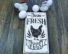 Farm Fresh Eggs  Wooden Sign  Fresh Eggs Sign  Chicken Sign
