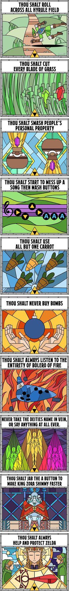 10 Commandments Of Ocarina Of Time - 9GAG