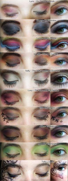 Girls in Books - Inspired Make Up by StarberryCupcake.deviantart.com on @deviantART