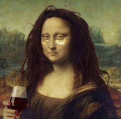 Mona Lisa rocking her eye masks Monalisa Wallpaper, Arte Dope, Mona Lisa Parody, Art Memes, Funny Art, How To Feel Beautiful, Modern Art, Street Art, How Are You Feeling