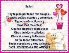 Oración por los amigos Friendship, Convenience Store, Prayers, Words, Salvador, Celestial, Google, Amor, Vestidos